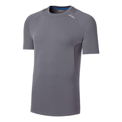Mens ASICS Favorite Short Sleeve Technical Tops - Frost S