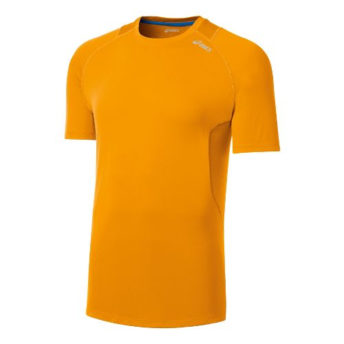 Mens ASICS Favorite Short Sleeve Technical Tops - Fuel M