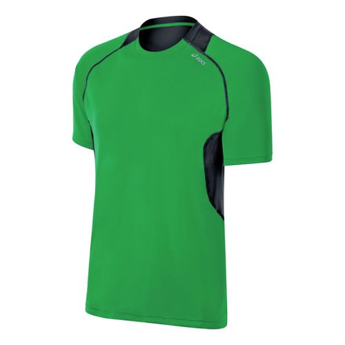 Mens ASICS Favorite Short Sleeve Technical Tops - Go Green L