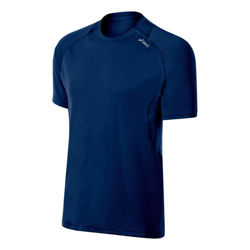 Mens ASICS Favorite Short Sleeve Technical Tops - Ink XXL