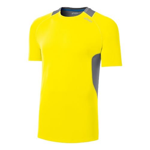Mens ASICS Favorite Short Sleeve Technical Tops - Vivid/Frost XL