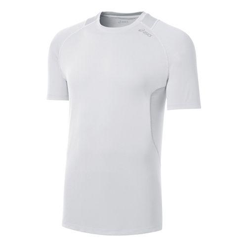 Mens ASICS Favorite Short Sleeve Technical Tops - White XL