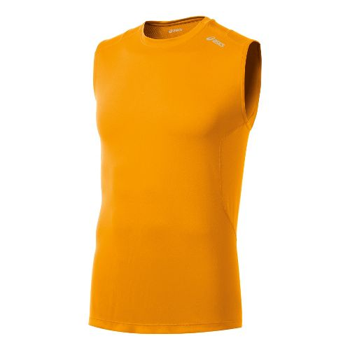 Mens ASICS Favorite Sleeveless Technical Tops - Fuel M