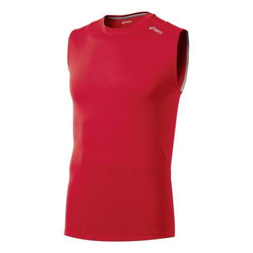 Mens ASICS Favorite Sleeveless Technical Tops - True Red XL