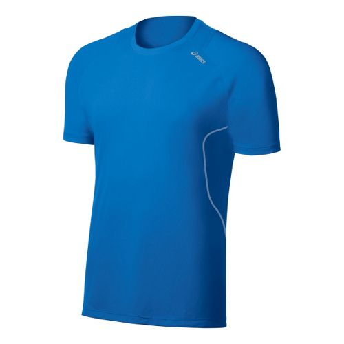 Mens ASICS Lite-Show Favorite Short Sleeve Technical Tops - Electric S