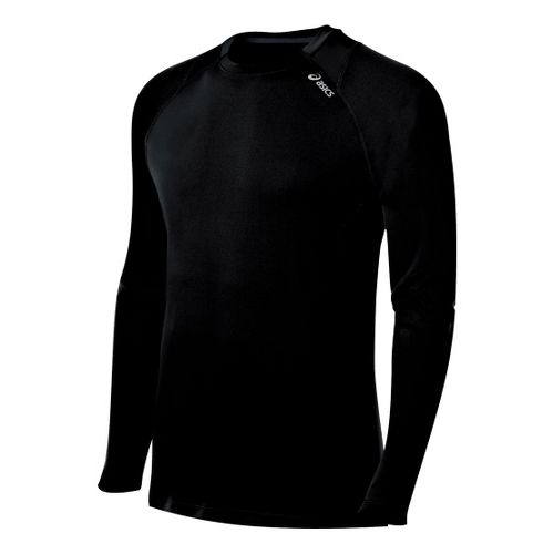 Mens ASICS Favorite Long Sleeve No Zip Technical Tops - Black XL