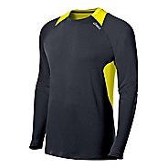 Mens ASICS Favorite Long Sleeve No Zip Technical Tops