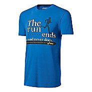 Mens ASICS The Run Tee Short Sleeve Technical Tops