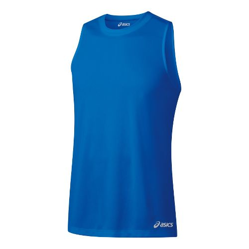 Mens ASICS Ready-Set Singlets Technical Tops - Electric S