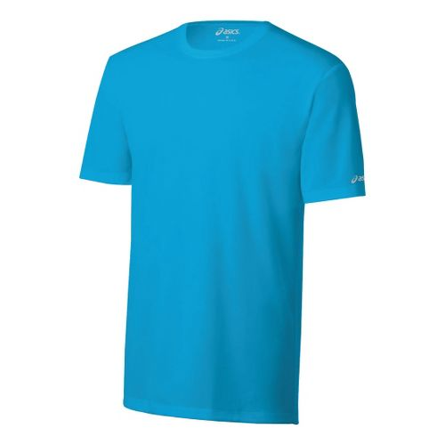 Mens ASICS Ready-Set Short Sleeve Technical Tops - Atomic Blue XXL