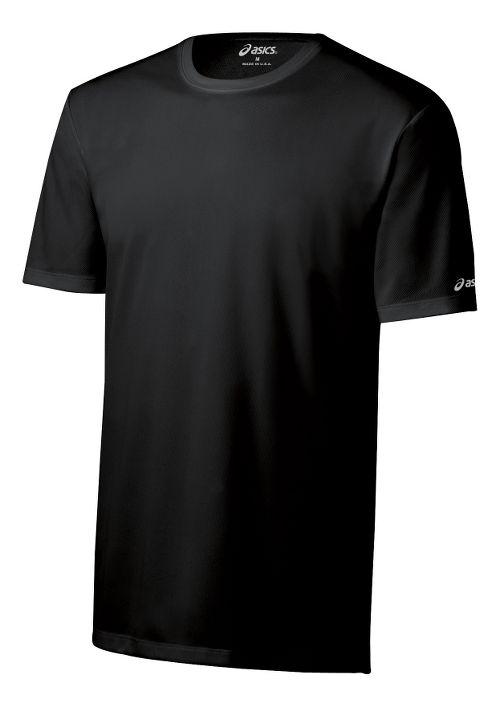 Mens ASICS Ready-Set Short Sleeve Technical Tops - Black XXS
