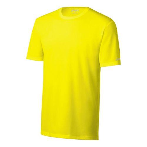 Mens ASICS Ready-Set Short Sleeve Technical Tops - Neon M