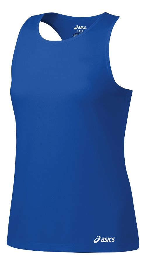 Womens ASICS Ready-Set Singlet Sleeveless & Tank Tops Technical Tops - New Blue XXL