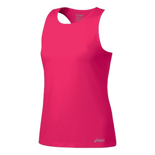 Womens ASICS Ready-Set Singlet Sleeveless & Tank Tops Technical Tops - Azalea L