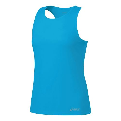 Womens ASICS Ready-Set Singlets Technical Tops - Atomic Blue XL