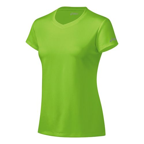 Womens ASICS Ready-Set Short Sleeve Technical Tops - Green Gecko XS