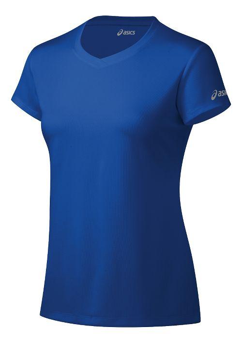 Womens ASICS Ready-Set Short Sleeve Technical Tops - New Blue XS