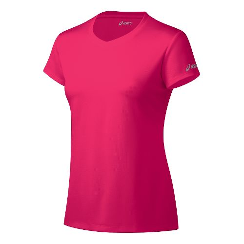 Womens ASICS Ready-Set Short Sleeve Technical Tops - Azalea S