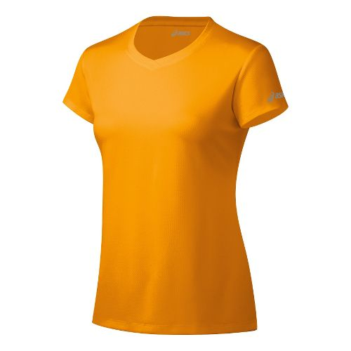 Womens ASICS Ready-Set Short Sleeve Technical Tops - Fuel L