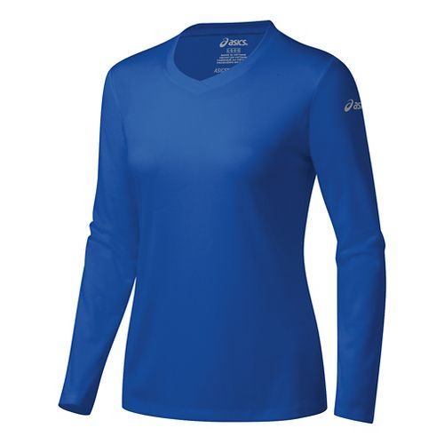 Womens ASICS Ready-Set Long Sleeve Technical Tops - New Blue M