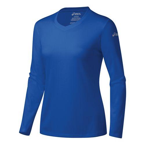Womens ASICS Ready-Set Long Sleeve Technical Tops - New Blue M