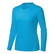 Womens ASICS Ready-Set Long Sleeve Technical Tops