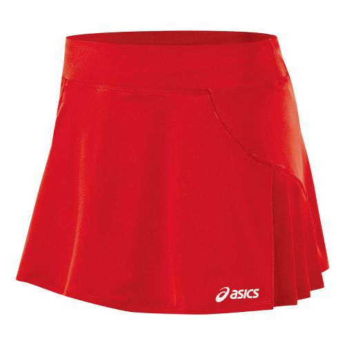 Womens ASICS Love Skort Fitness Skirts - Red XL
