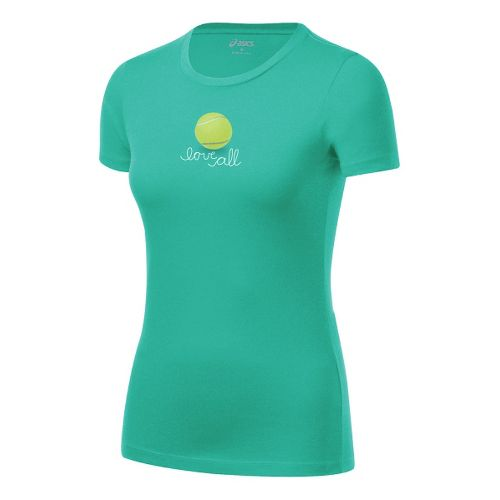 Womens ASICS Love Tee Short Sleeve Technical Tops - Mint S
