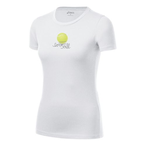 Womens ASICS Love Tee Short Sleeve Technical Tops - White XL