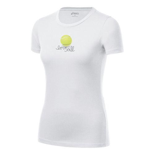 Womens ASICS Love Tee Short Sleeve Technical Tops - White XS