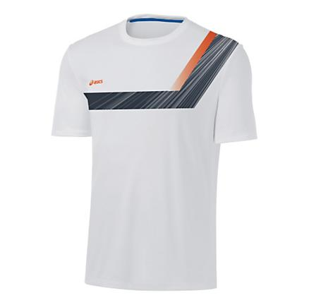 Mens ASICS Game Point Printed Short Sleeve Technical Tops
