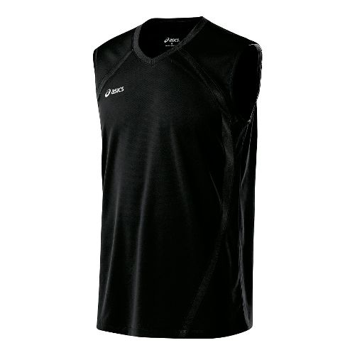 Mens ASICS Tyson Sleeveless & Tank Tops Technical Tops - Black XXL