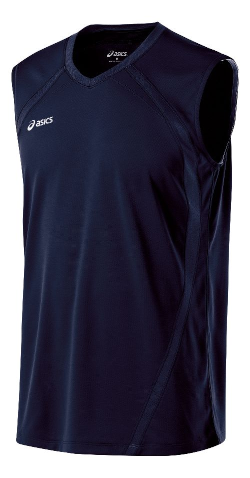 Mens ASICS Tyson Sleeveless & Tank Tops Technical Tops - Navy S