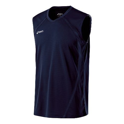 Mens ASICS Tyson Sleeveless & Tank Tops Technical Tops - Navy M