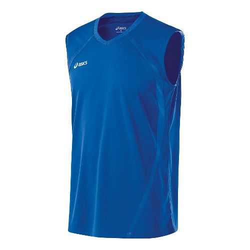 Mens ASICS Tyson Sleeveless & Tank Tops Technical Tops - Royal XXL