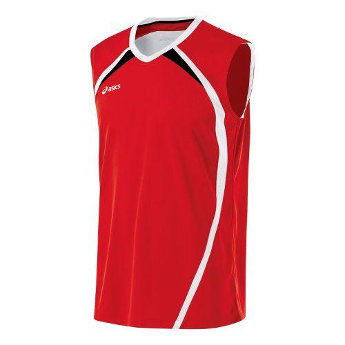 Mens ASICS Tyson Sleeveless Technical Tops - Red/White S