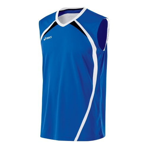 Mens ASICS Tyson Sleeveless Technical Tops - Royal/White L