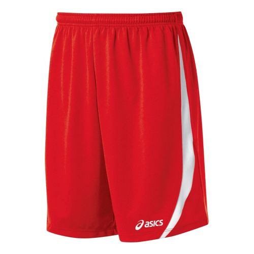 Mens ASICS Bomba Unlined Shorts - Red/White L