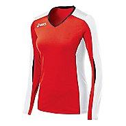 Womens ASICS Roll Shot Jersey Long Sleeve No Zip Technical Tops