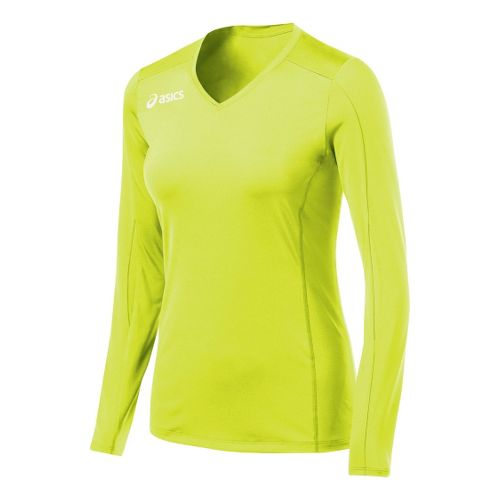 Womens ASICS Roll Shot Jersey Long Sleeve No Zip Technical Tops - WOW XXL