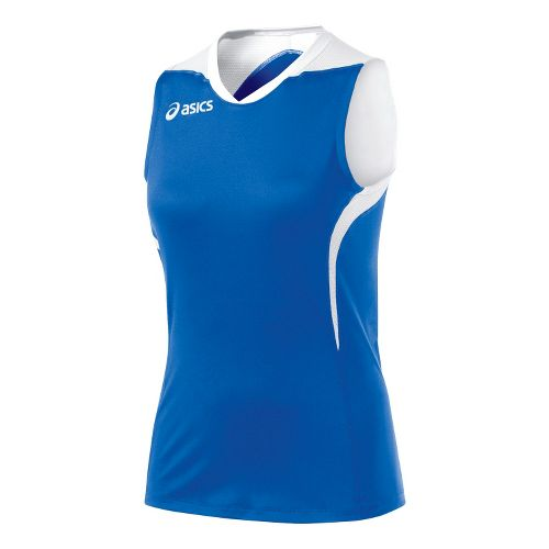 Womens ASICS Tip Tank Technical Tops - Royal/White XS