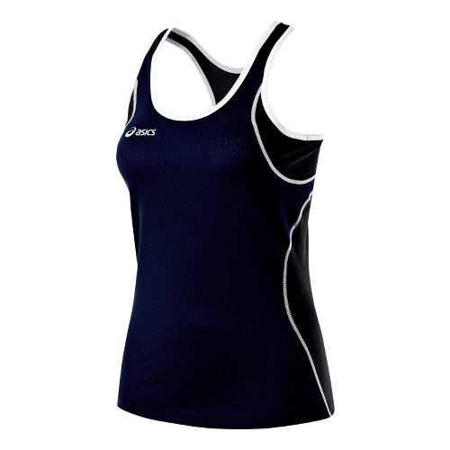 Womens ASICS Main Street Beach Tank Technical Tops - Navy/Black XS