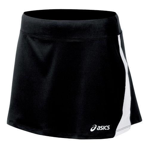 Womens ASICS Love Skirt Fitness Skirts - Black/White S