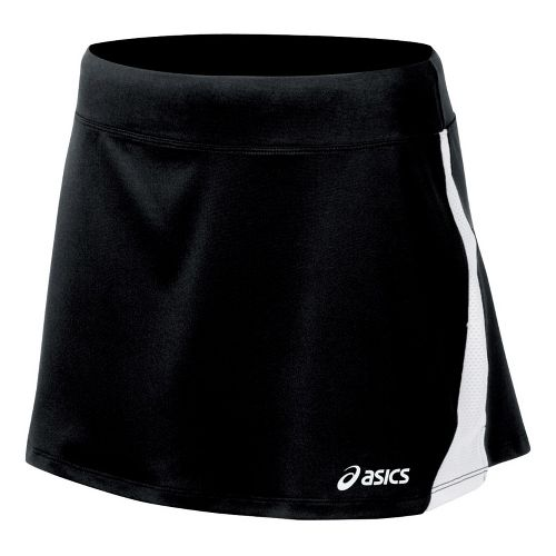 Womens ASICS Love Skirt Fitness Skirts - Black/White XL