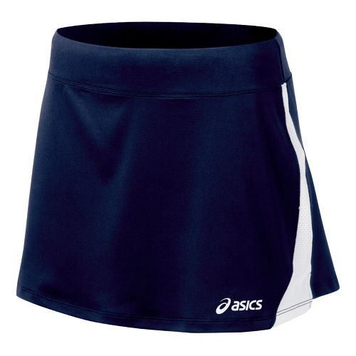 Womens ASICS Love Skirt Fitness Skirts - Navy/White L
