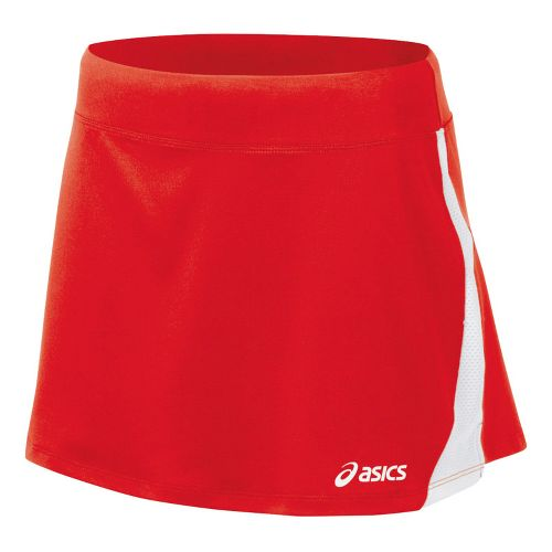 Womens ASICS Love Skirt Fitness Skirts - Red/White L