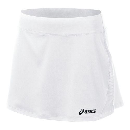 Womens ASICS Love Skirt Fitness Skirts - White/White L