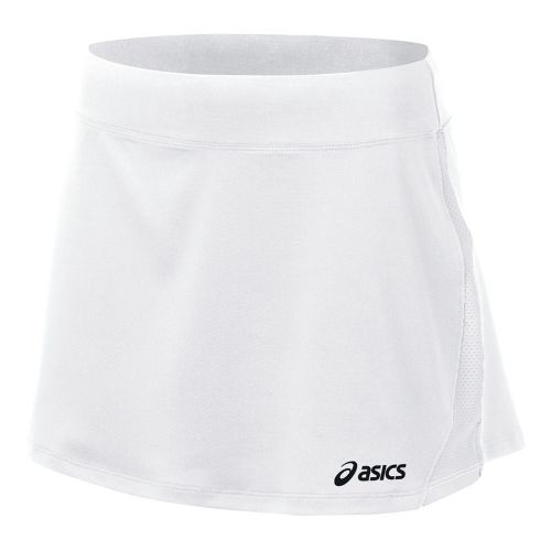 Womens ASICS Love Skirt Fitness Skirts - White/White XS
