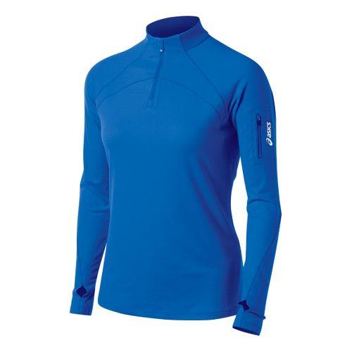 Womens ASICS Team Tech Long Sleeve 1/2 Zip Technical Tops - Royal XL