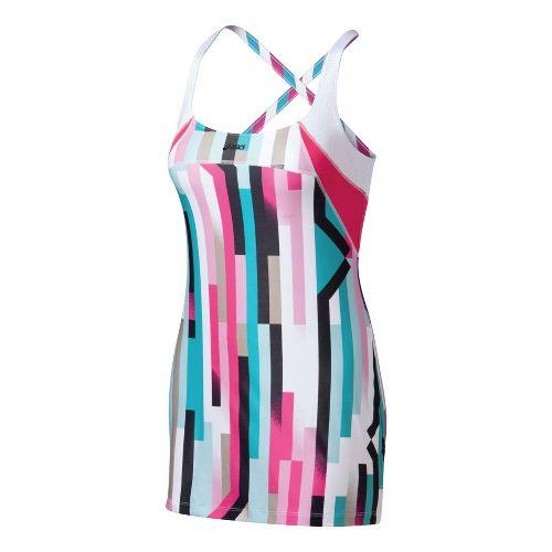 Womens ASICS Straight Sets Dress Skirt Fitness Skirts - Straight Sets Print L